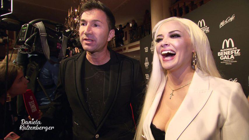 Lucas Cordalis und Daniela Katzenberger bei der McDonald's Benefiz Gala in München