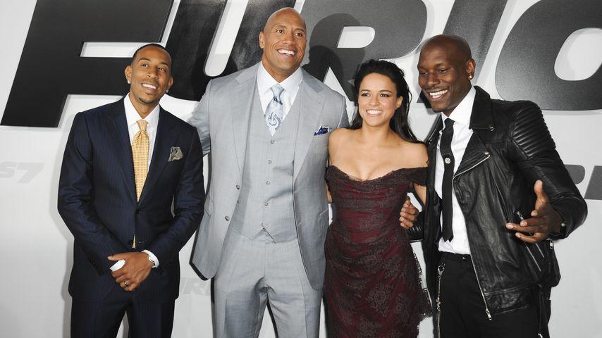 Ludacris, Dwayne The Rock Johnson, Michelle Rodriguez und Tyrese Gibson