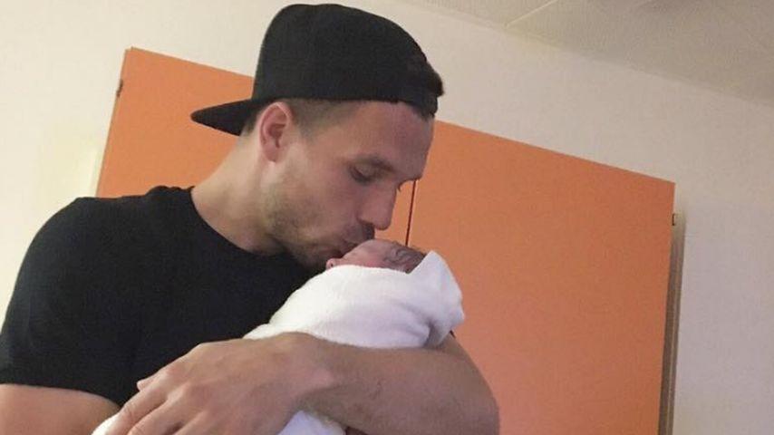 Lukas Podolski mit Tochter Maya