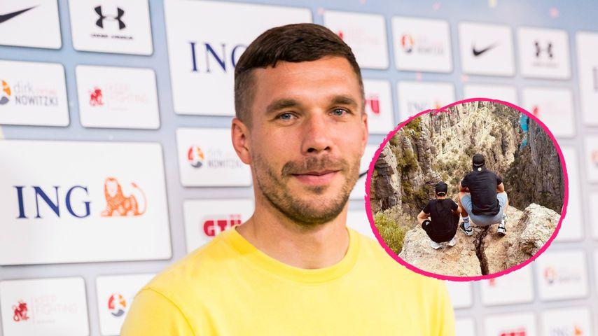 """Zwei Champions"": Lukas Podolski postet Vater-Sohn-Foto"