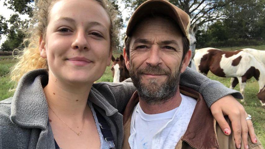 Luke Perry mit seiner Tochter Sophie