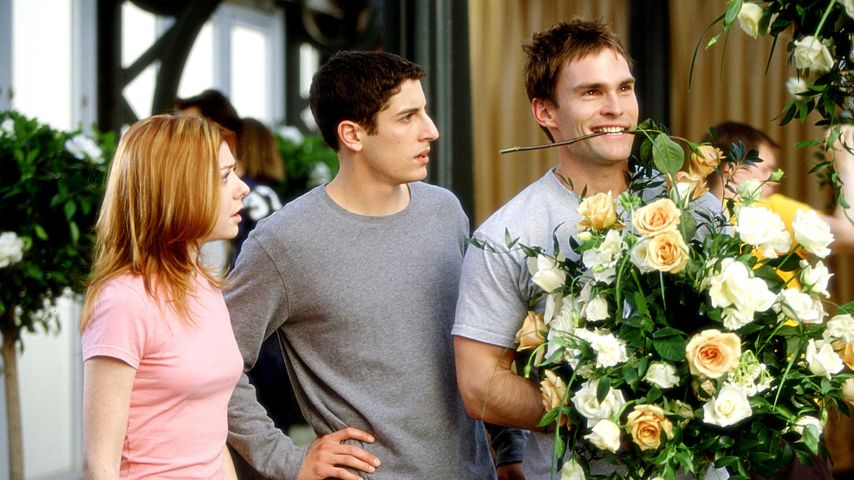 "Alyson Hannigan, Jason Biggs und Seann William Scott in ""American Pie – Jetzt wird geheiratet"""