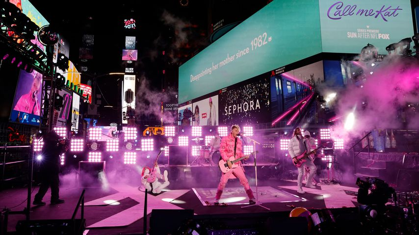 Machine Gun Kelly bei der Silvester-Party am Times Square in NYC im Dezember 2020