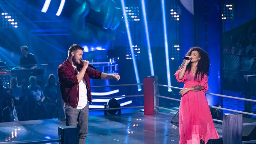 "Maciek und Dimi Rompos bei ihrem ""The Voice of Germany""-Battle"