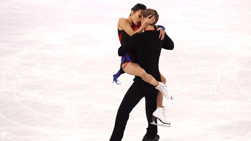 Madison Chock und Evan Bates während ihrer Kür