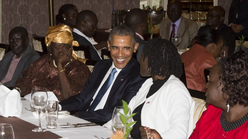 Mama Sarah, Barack Obama und seine Halbschwester Auma