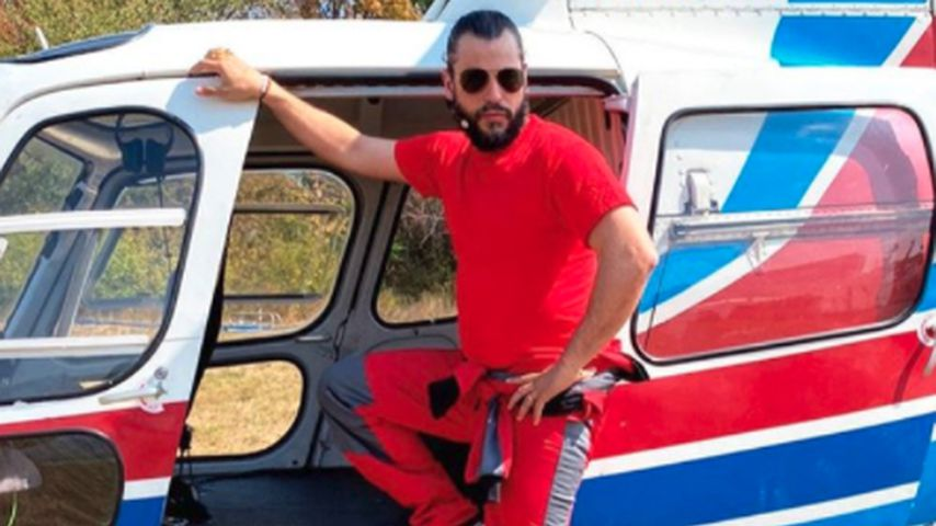 Live im Fernsehgarten: Manuel Cortez springt aus Helikopter