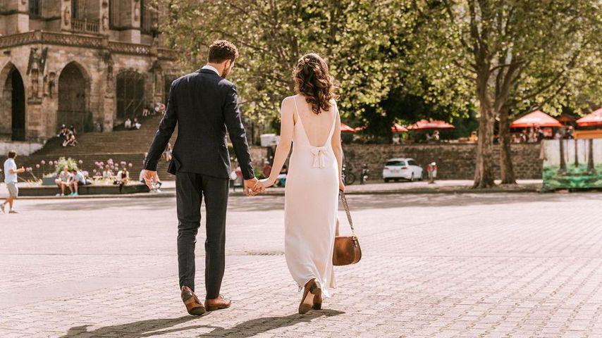 Manuel Vering und Maria Ehrich an ihrem Hochzeitstag