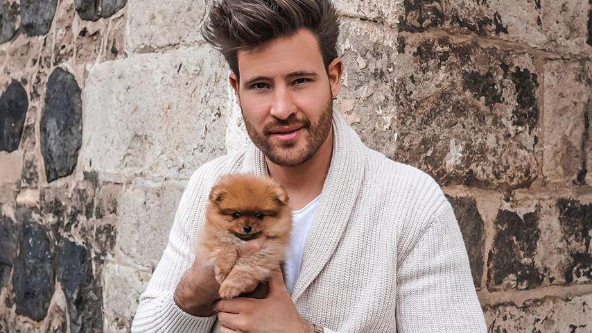 Marc Eggers mit seinem neuen Hund