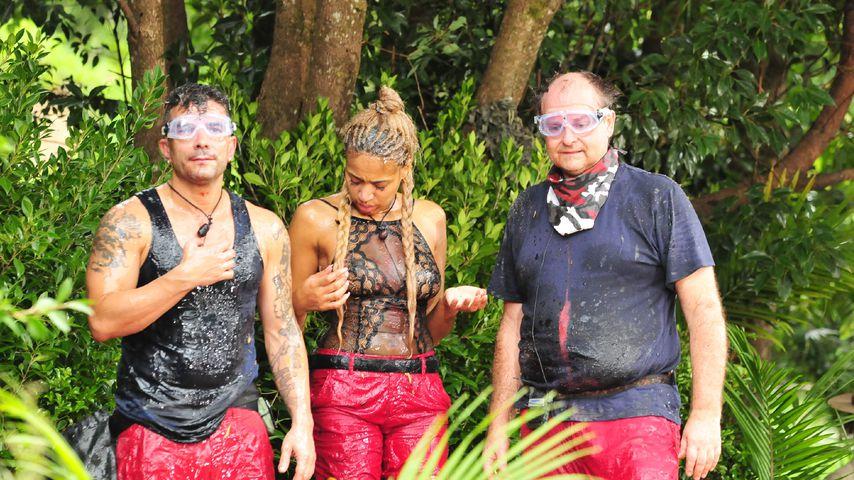 Marc Terenzi, Sarah Joelle Jahnel und Markus Majowski im Dschungelcamp 2017