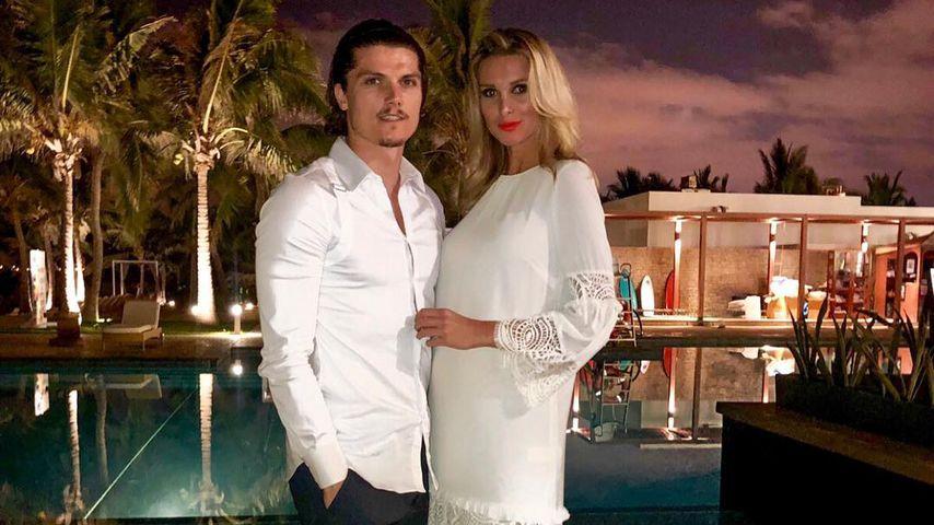 Marcel Sabitzer und Katja Kühne im Dezember 2018 im Oman