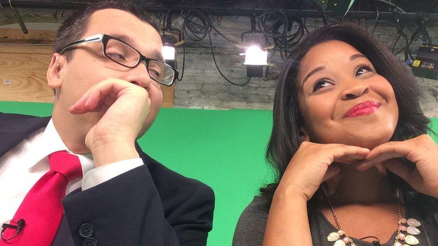 Marco La Manno und Taylor Terrell im TV-Studio