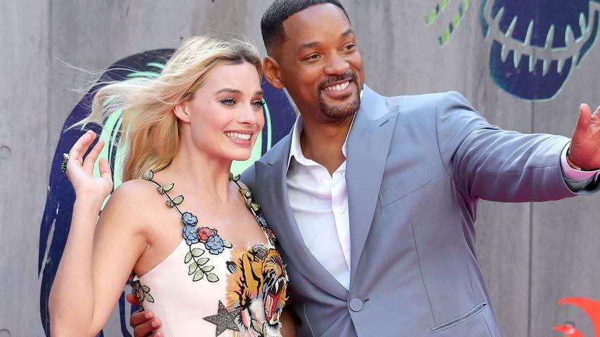 """Margot Robbie und Will Smith bei der """"Suicide Squad""""-Europapremiere"""
