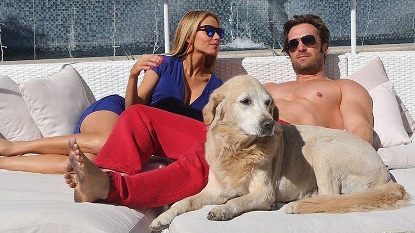 Maria und Bastian Yotta mit ihrem Hund im Juli 2016