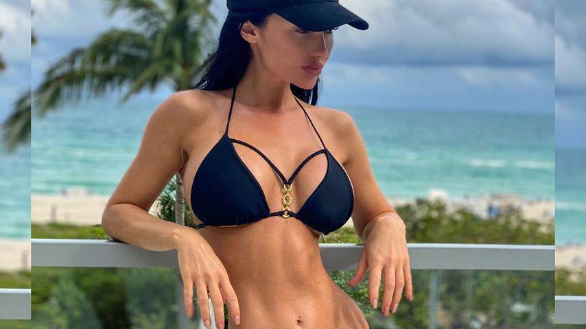 Yotta-Ex Maria setzt XXS-Taille auf Bikini-Bild in Szene