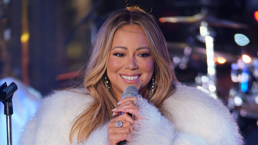 Mariah Carey beim 2018 New Year's eve ball drop am Times Square