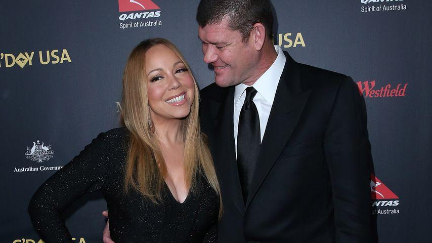 Schnee-Spiel: Mariah Carey sitzt im Winter-Versteck