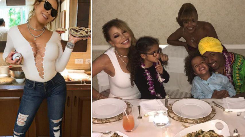 Mariah Carey mit ihrer Familie während Thanksgiving