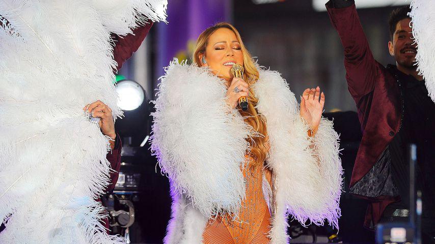 Mariah Carey bei einem Auftritt an Silvester 2016