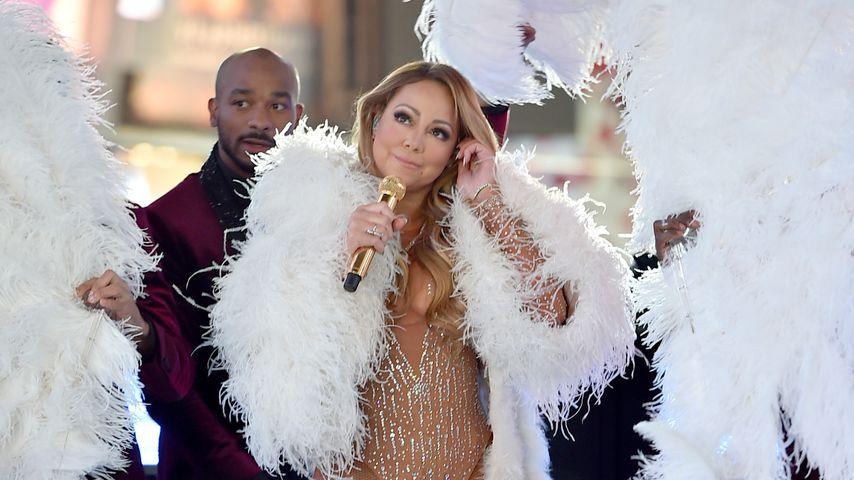 Mariah Carey während ihrer New-Year's-Eve-Performance am Times Square 2016/2017