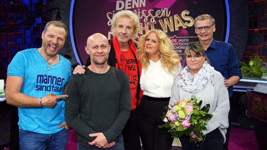 Mario Barth, Jürgen Vogel, Thomas Gottschalk, Barbara Schöneberger Anja Schu und Günther Jauch