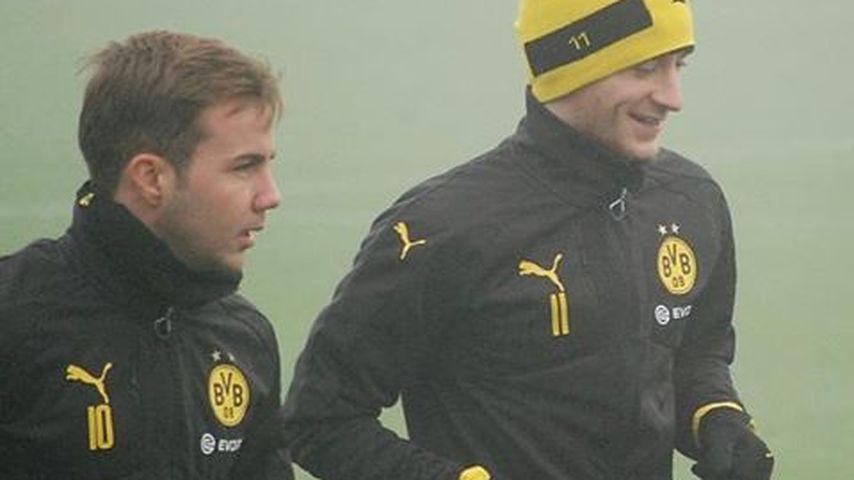 Mario Götze und Marco Reus beim BVB-Training