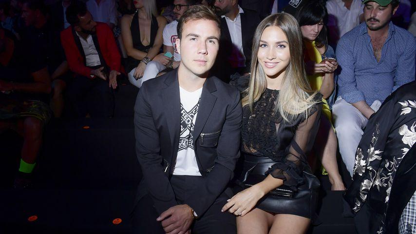 Mario Götze und seine Frau Ann-Kathrin bei der Fashionweek in Milan, Juni 2018