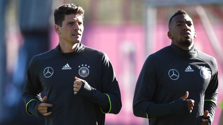 Mario Gomez und Jérôme Boateng beim DFB-Training