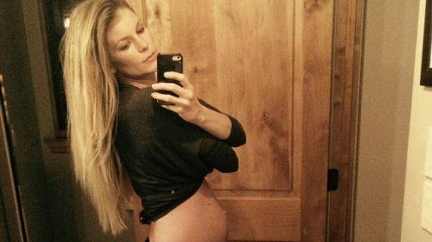 Nackte Babykugel: Marisa Millers Minimodel wächst