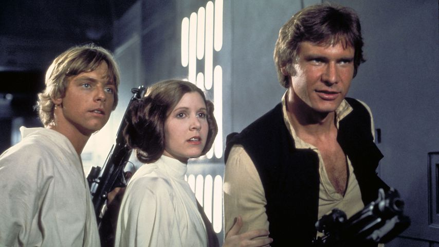 "Mark Hamill, Carrie Fisher und Harrison Ford in ""Star Wars"""