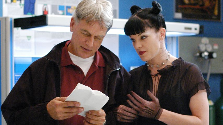"Mark Harmon und Pauley Perrette in ""NCIS"""