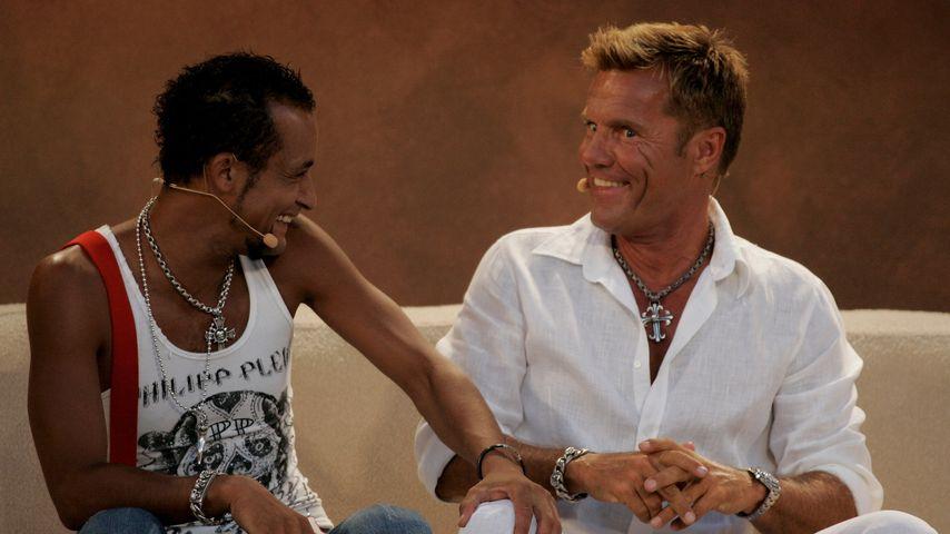 """Mark Medlock und Dieter Bohlen bei """"Wetten dass...?"""" 2007 auf Mallorca"""