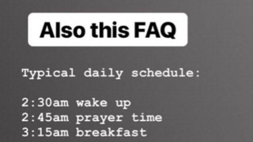 Mark Wahlbergs Tagesplan