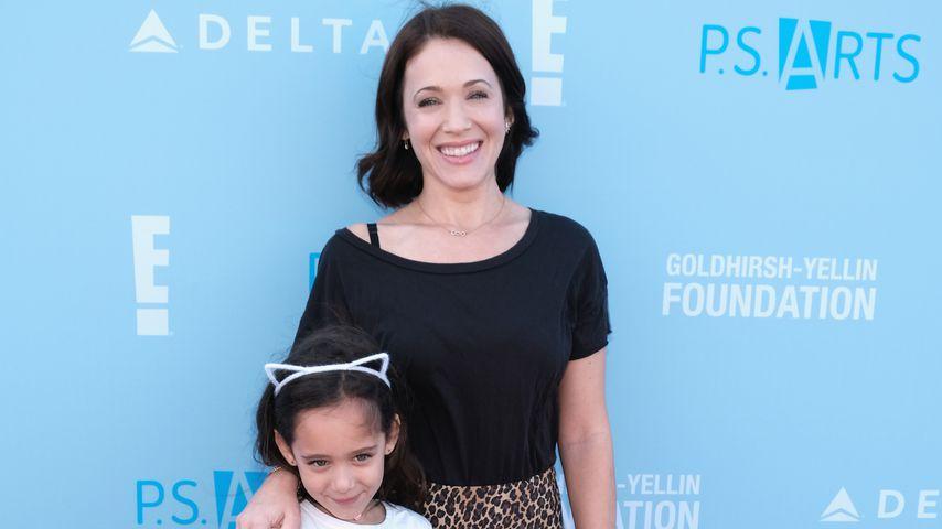 Marla Sokoloff mit ihren beiden Töchtern, 2018