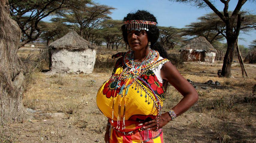 Martina Big auf ihrer Kenia-Reise