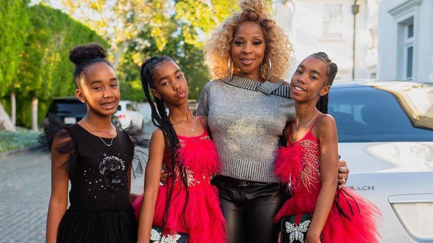 Mary J. Blige mit den Töchtern von P. Diddy