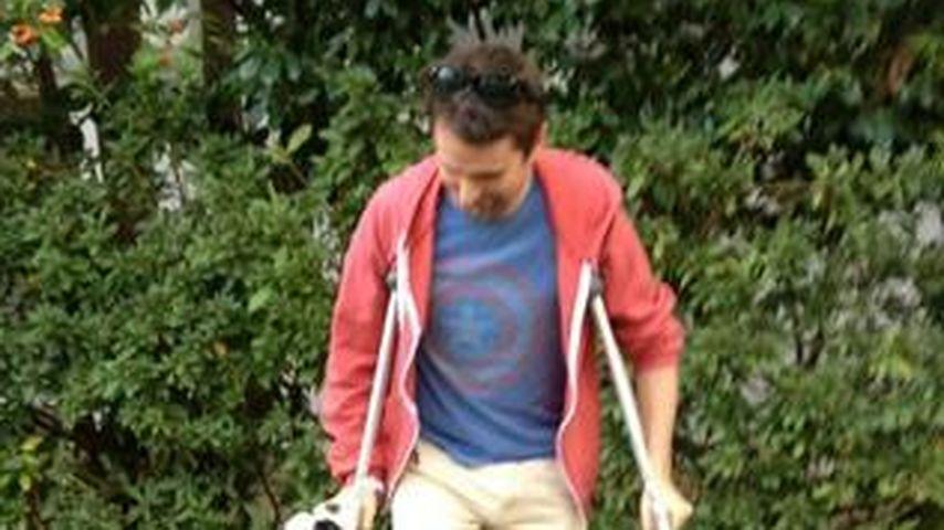 Autsch! Matt Bellamy hat sich den Fuß gebrochen