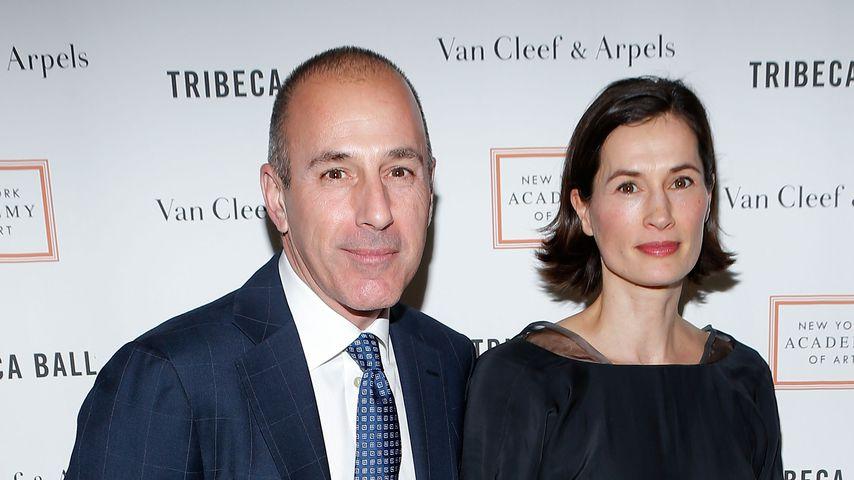 Matt Lauer und Annette Roque beim Tribeca Ball in New York