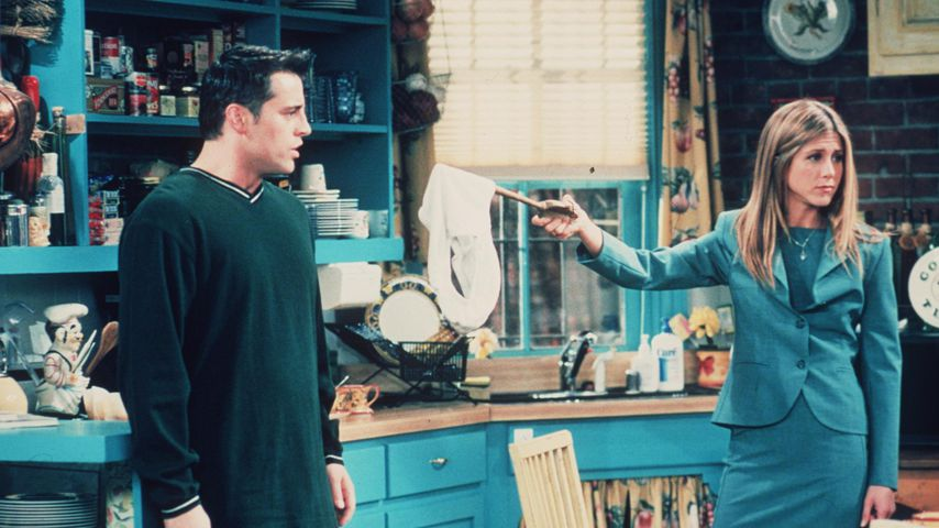 "Matt LeBlanc und Jennifer Aniston als Joey und Rachel in ""friends"""
