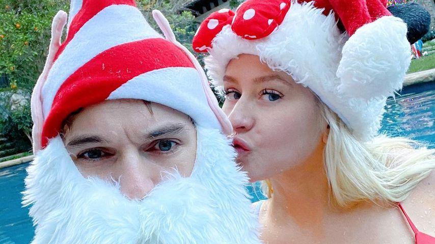 Matthew Rutler und Christina Aguilera im Dezember 2020
