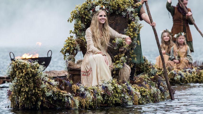 """Maude Hirst als Helga in der zweiten Staffel von """"Vikings"""", 2014"""