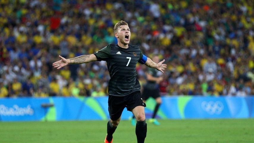 Fußballer Max Meyer beim Olympia-Finale in Rio