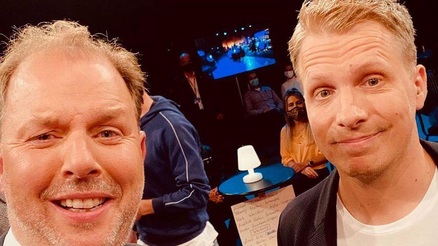 """Medienanwalt Christian Solmecke und Oliver Pocher beim Dreh für """"Pocher – gefährlich ehrlich"""""""