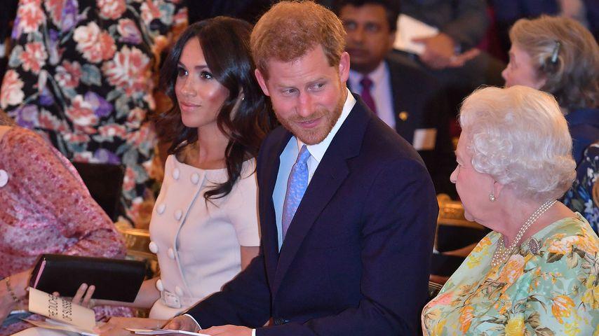 Herzogin Meghan, Prinz Harry und die Queen