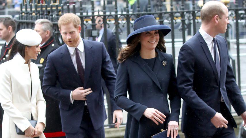 Meghan Markle, Prinz Harry, Herzogin Kate und Prinz William