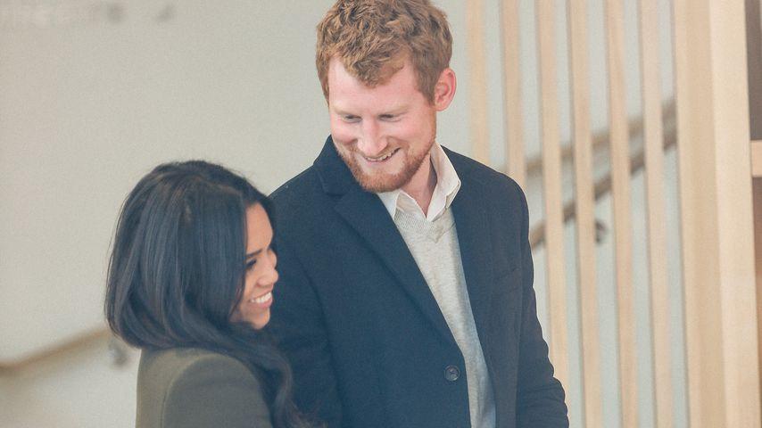 Meghan Markle- und Prinz Harry-Doppelgänger in London