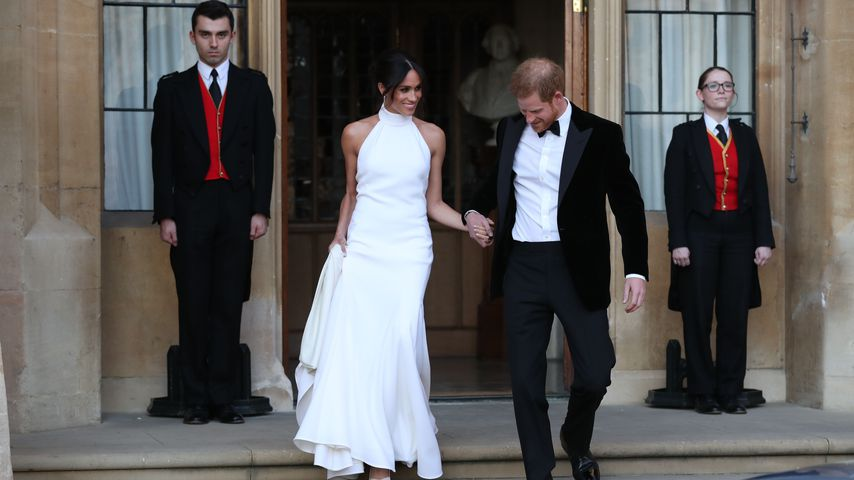 Meghan Markle und Prinz Harry nach ihrer Hochzeitszeremonie