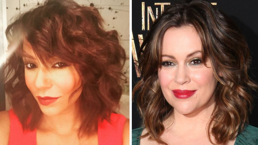 Locken-Lookalikes: Mel B. sieht jetzt aus wie Alyssa Milano!
