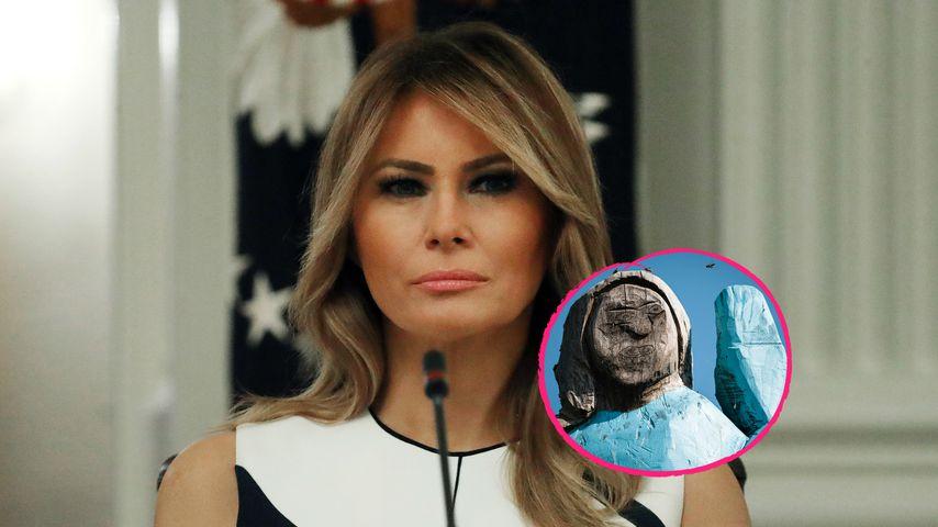 Nach einem Jahr: Holzstatue von Melania Trump abgefackelt!