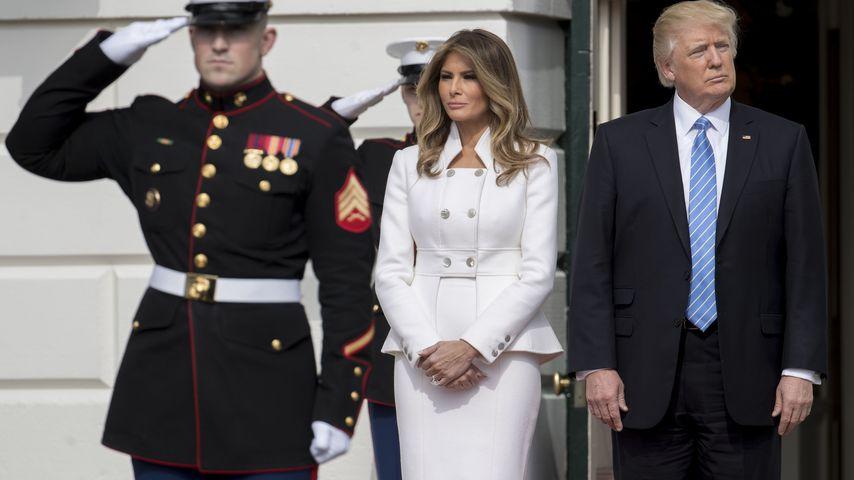 First Lady Melania Trump und US-Präsident Donald Trump